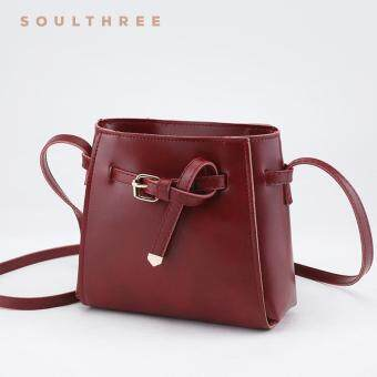 Harga SOULTHREE Bella Leather Sling Bag (Red)