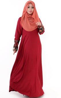 Harga JF Fashion Lacey Jubah M362 (Red)