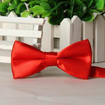 Harga Bowtie Formal Neckwear Bow Tie Party Solid Silk Bow Ties for Boys and Girls