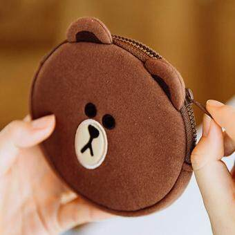 Harga Line Friends Brown Coin Pouch Coin Wallet Coin Purse