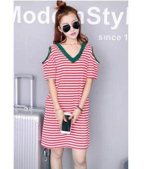 Harga JYS Fashion: Korean Style Midi Dress - Collection 97 4529-Red