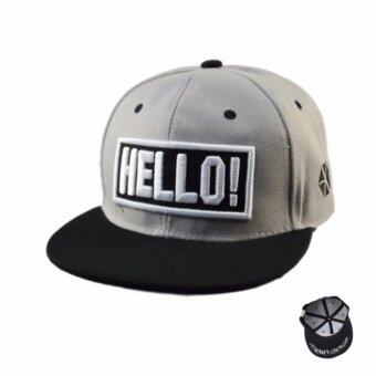 Harga TEEMI Snapback Hip Hop Hats Adjustable Baseball Cap Grey - HELLO