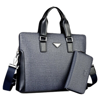 Harga Barca X-3 Men's Formal Bag (Grey) - Free Wallet (Grey)