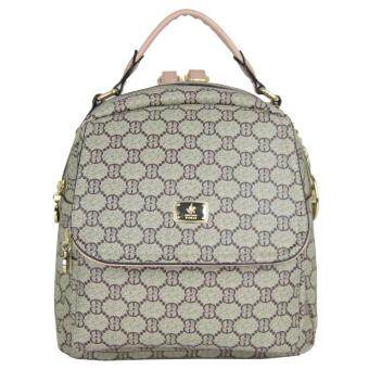 Harga British Polo Women Pattern Backpack (Khaki)