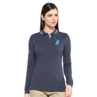 Harga Polo Haus - Marine Team Long Sleeves Polo Tee (DARBLU)