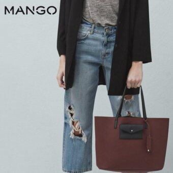 Harga Mango Pocket Shopper Bag (Dark Red)
