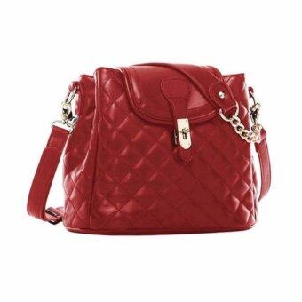 Harga SoKaNo Trendz SKN737 PU Leather Bucket Bag_Maroon