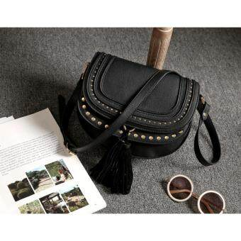 Harga Mango Studded Fringe Cross Body Bag (Black)