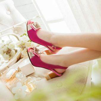Harga Red Heeled Sandals (32--43)
