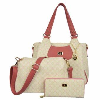 Harga 100% British Polo Hot Sale Value Set Handbag Pink (PL51045-04)