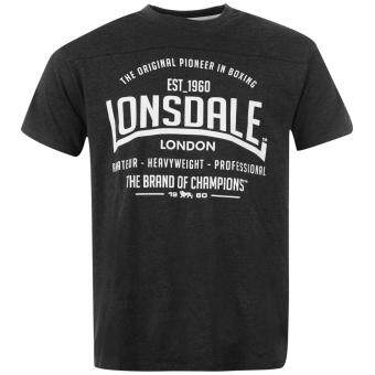 Harga Lonsdale Mens Box T Shirt Short Sleeve Round Neck Casual Tee Top Clothing Charco