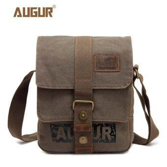 Harga AUGUR Retro Canvas Men Shoulder Bags Outdoor Messerger School Bag