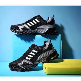Harga Running Shoes Men Sneakers Casual Athletic Shoes Man Sports Shoes(black)