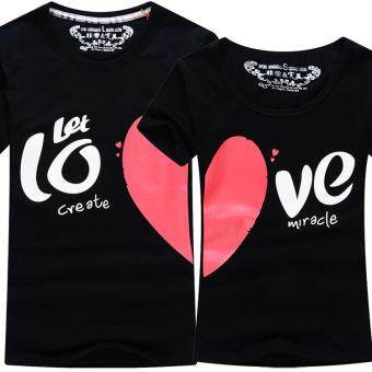 Harga Black Heart Couple T-Shirt (Price for One T-Shirt)