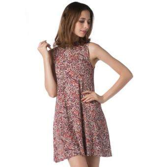 Harga Nichii Printed Tank Shift SL Short Dress (Crimson)