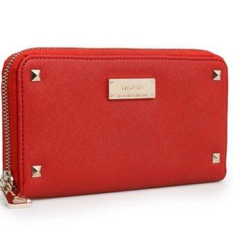 Harga Mango Stylish Saffiano Effect Purse/Wallet (Red)