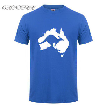Harga THW Cool Australia Map Kangaroo T Shirt Men Cotton O neck Summer Style Short Sleeve Australia T shirt Tops Tee