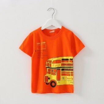 Harga DESTYLIO Boys Short Sleeve Top With Graphic Print (Orange)