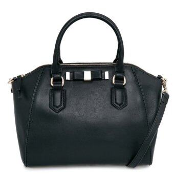 Harga Mango Bow Round Tote Bag ( Black )