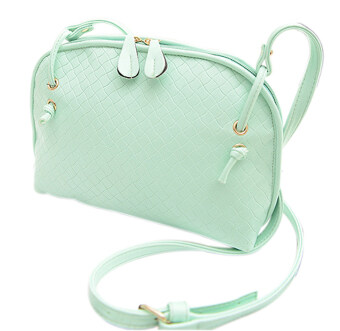 Harga SoKaNo Trendz Crossbody Knitted Bag- Light Green