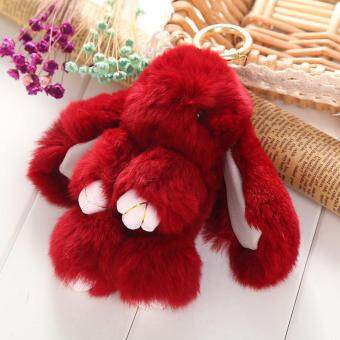Harga Soft Furry Rex Rabbit Fur Keychain Charm Bag Wallet Phone Cute Pom Pendant Hot