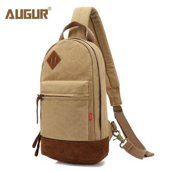 Harga AUGUR Retro Canvas Men Shoulder Bags Outdoor Pockets Crossbody Bag