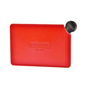 Harga Coach Leather Cover Stainless Steel Mirror (Red)