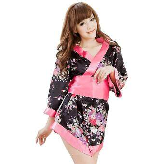 Harga MG SEXY Lingerie Club Bar Cosplay Costume Kimono Night Dress + Thongs + Belt