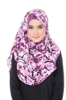 Harga Benang Hijau Ashley Premium Shawl - Pink Purple Sakura