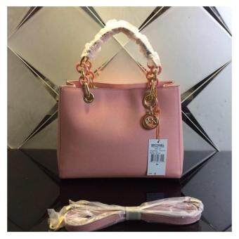 Harga Michael Kors Cynthia Small Leather Satchel - Light Pink