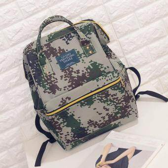 Harga Japan Style Canvas Backpack (Camouflage)