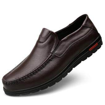 Harga Men's fashion leisure British Genuine Leather shoes