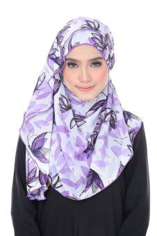 Harga Benang Hijau Ashley Premium Shawl - Purple Butterfly