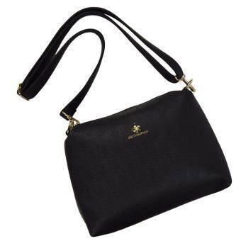 Harga British Polo Faux Leather Sling Bag Black (PL-s61127-01)