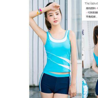 Harga 【Ready Stock -NEW- Fast Delivery】Korean Fashion Swim Wear Swimsuit 2pcs Sets - 850224SWPC ( BLUE )