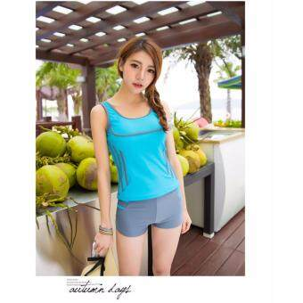 Harga 850124SWPC Ready Stock Korean Fashion Swim Wear Swimsuit 2pcs Sets