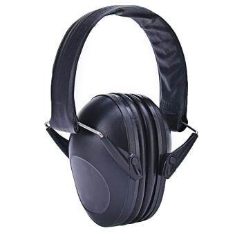 Harga Portable Outdoor Noise Reduction Ear Muffs Foldable Ear Defenders with Adjustable Headband for Adults Kids Shooting Labor Protection Tactics Reading Studying Operating Machinery Protect Hearing Black