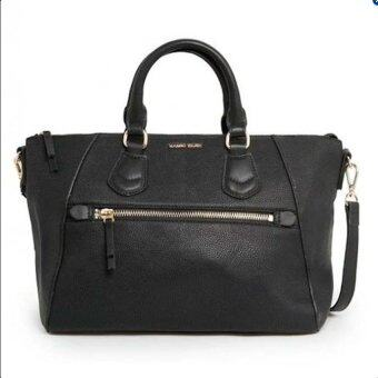 Harga Mango Pebbled Sling Tote Bag (Black)