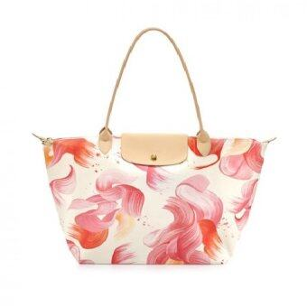 Harga Longchamp Le Pliage Large Tote Splash print (Biege Flower)