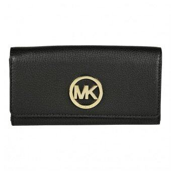 Harga Michael Kors Fulton Leather Carryall Wallet (Black)