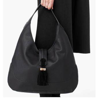 Harga Mango Tassel Hobo Bag (Black)
