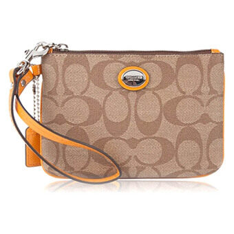 Harga Coach 50142 Peyton Signature Small Wristlet (Yellow)