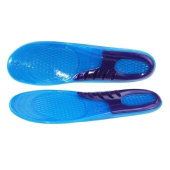 Harga Gel Massaging Shoe Insoles Arch Support Orthotic Run Pad 28*8.8cm
