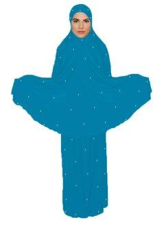 Harga Hijabera - Starletz telekung with cyrystal studs for adults (Ocean Blue)