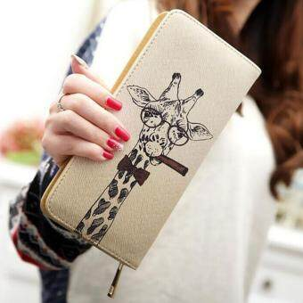 Harga Makiyo Long Type Fresh Style Giraffe Pattern Lovely Women Purse