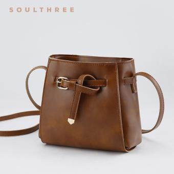 Harga SOULTHREE Bella Leather Sling Bag (Brown)