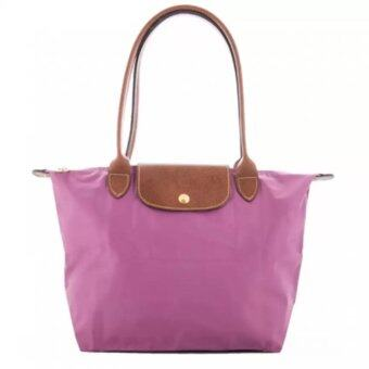 Harga Longchamp Le Pliage Long Handle Medium (Lilac)