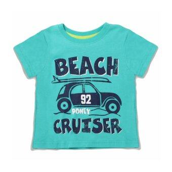 Harga PONEY BEACH CRUISER GRAPHIC PRINT TEE (GREEN)