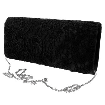 Harga MagiDeal Women's Elegant Clutch Shoulder Bag Black