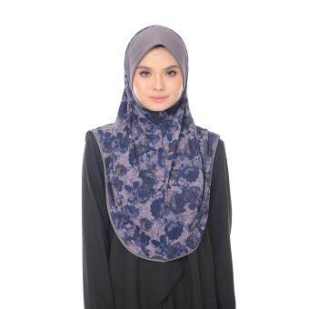 Harga Aisya Printed Express Hijab (L) with Grey Awning